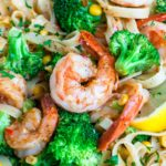 Cajun Shrimp Pasta with Lemon and Veggies