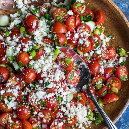 Quick + Easy Cherry Tomato Salad