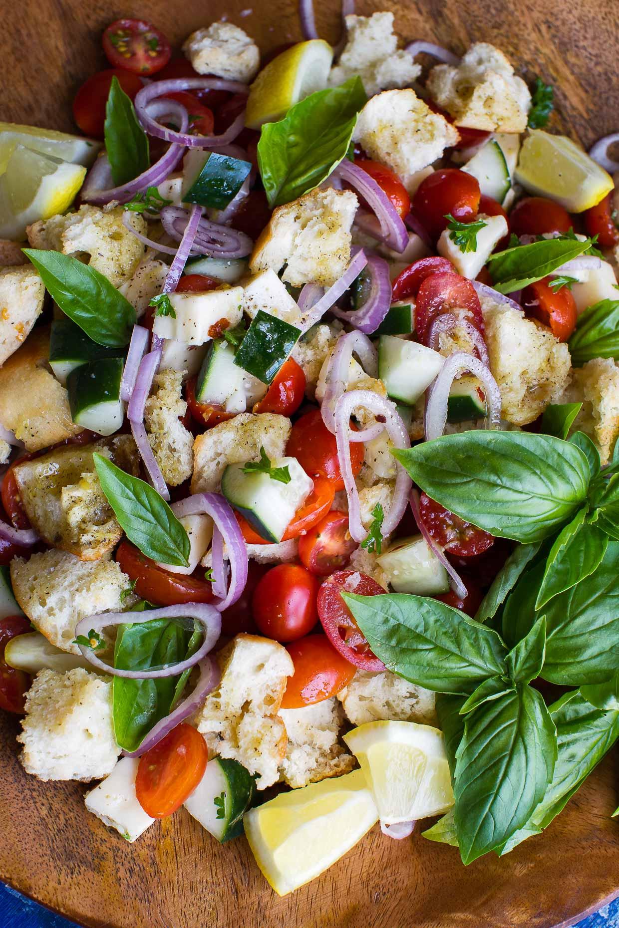 Tomato Basil Panzanella Tuscan Bread Salad