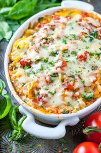 Cheesy Vegetarian Spaghetti Squash Casserole