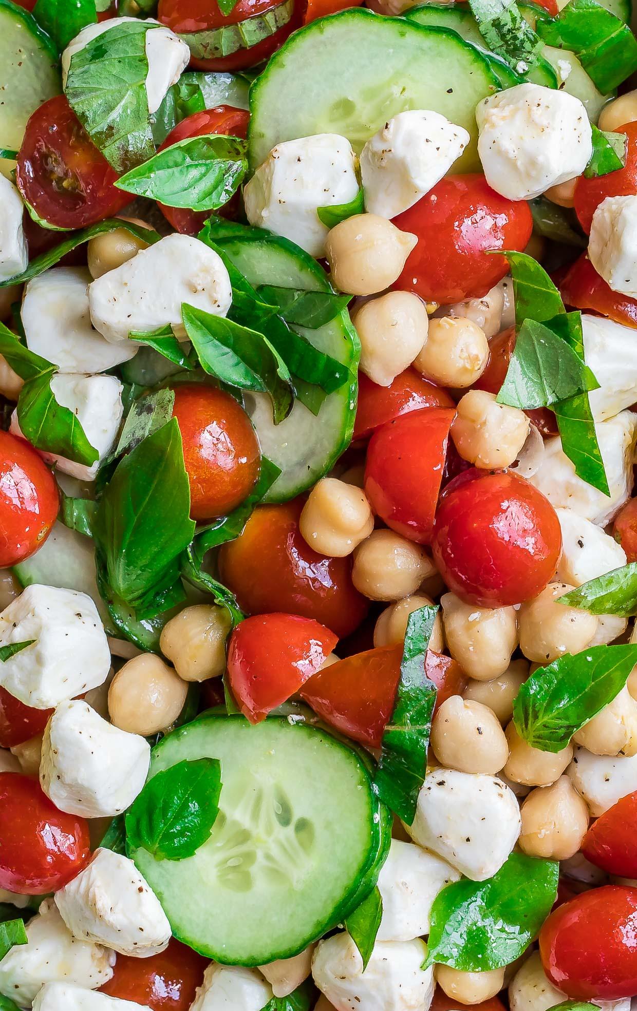 Tomato Mozzarella Chickpea Salad
