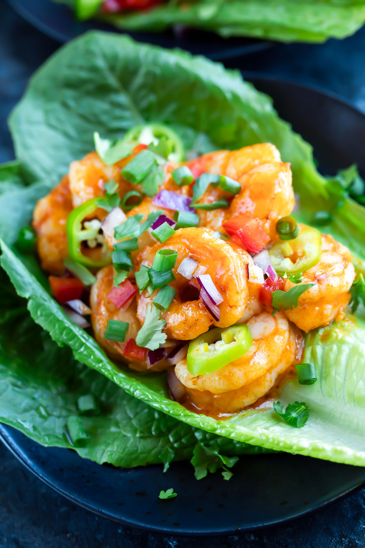 Buffalo Shrimp Lettuce Wrap Tacos Peas And Crayons