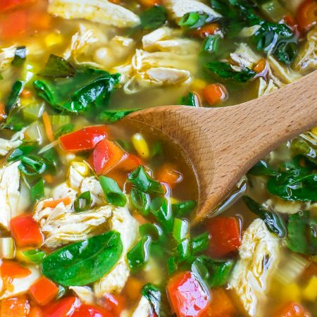 This one-pot chicken and vegetable soup is a weeknight winner in our house and great for meal-prep since it's magically even better the next day!