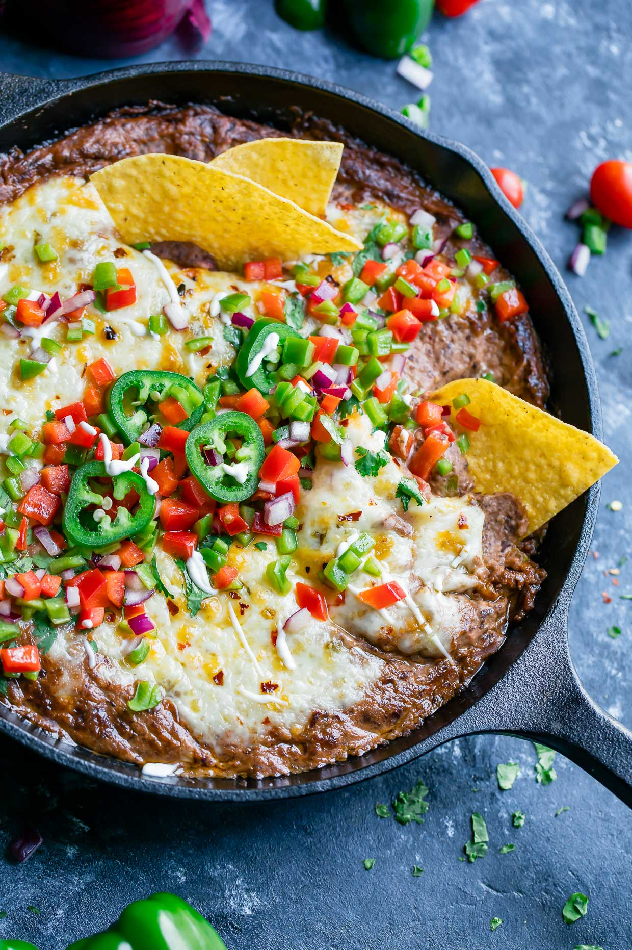 Instant Pot Black Bean Dip is a total breeze to throw together! No cans needed! Simply grab a bag of dried beans and get ready for a party-perfect vegetarian dip that's easy, make-ahead, and SO delicious!