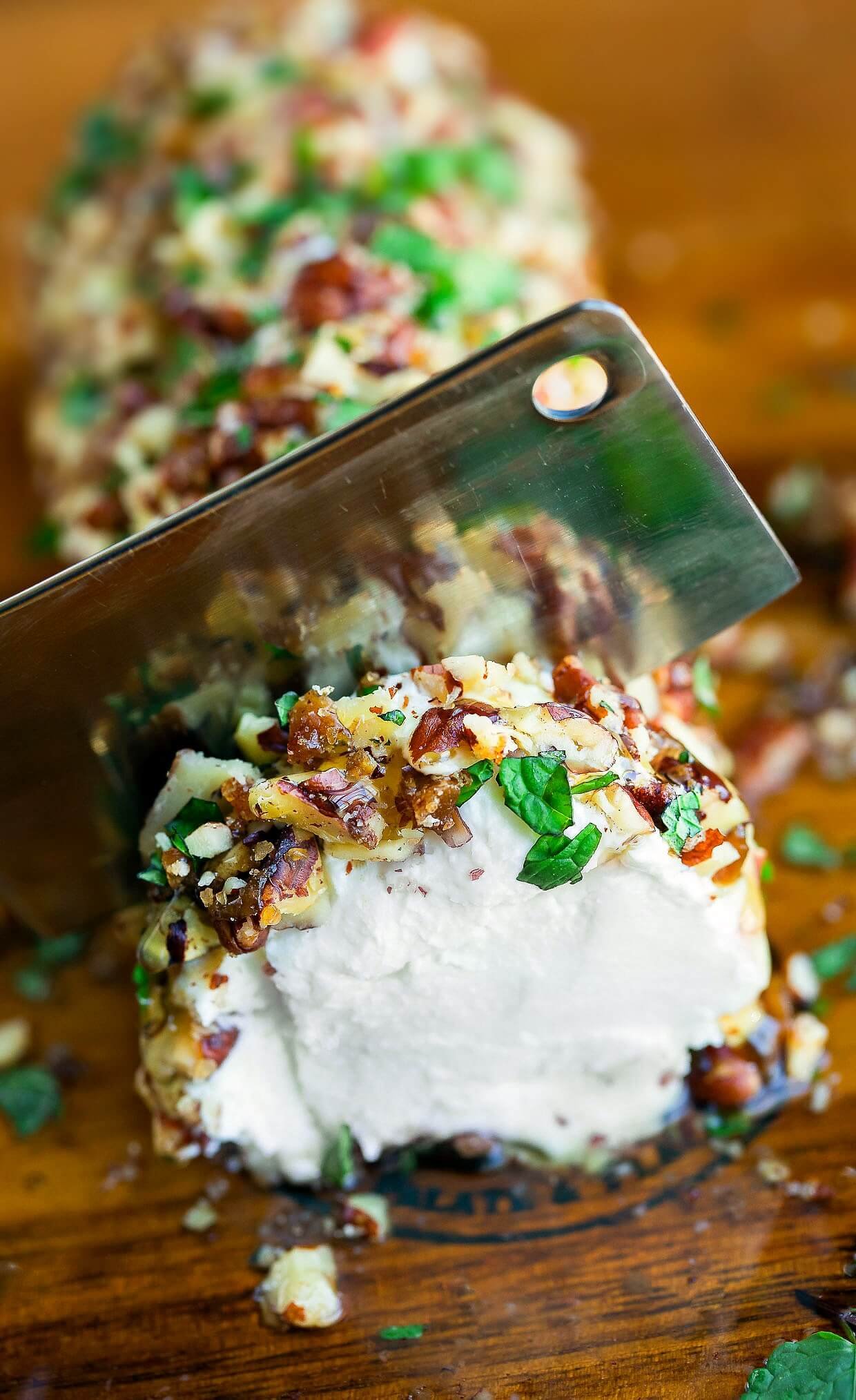 This tasty Maple Pecan Goat Cheese Log will add some savory sweetness and a whole lot of deliciousness to your holiday appetizer spread. Ready in minutes!