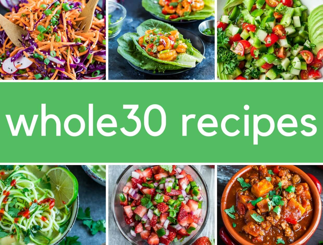 8 Epic Whole30 Recipes + Meal Ideas: some of our favorite paleo whole 30 recipes with some bonus recipes and meal ideas too!