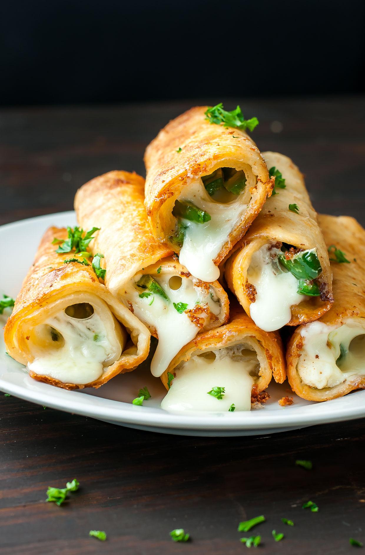 Cheesy Jalapeño Flautas