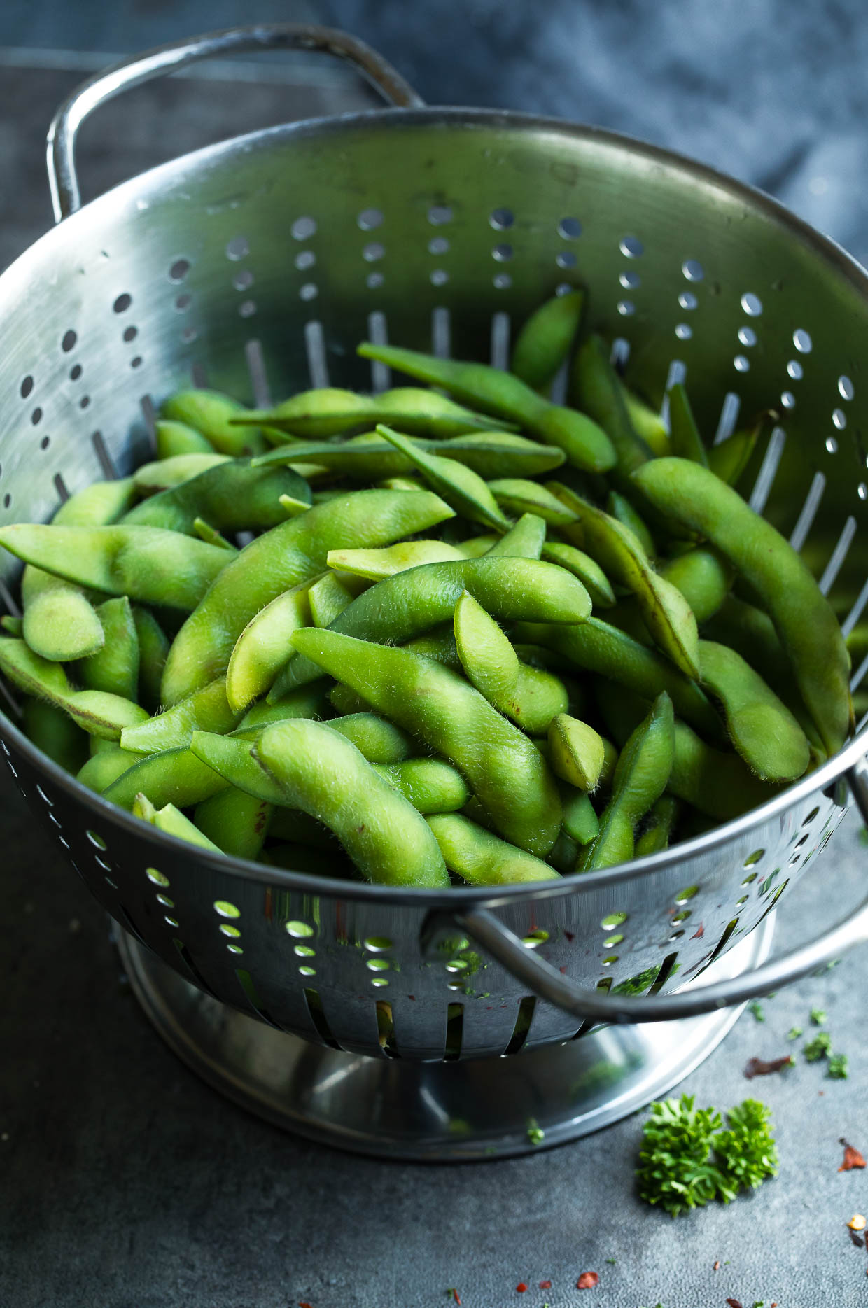 cooked edamame