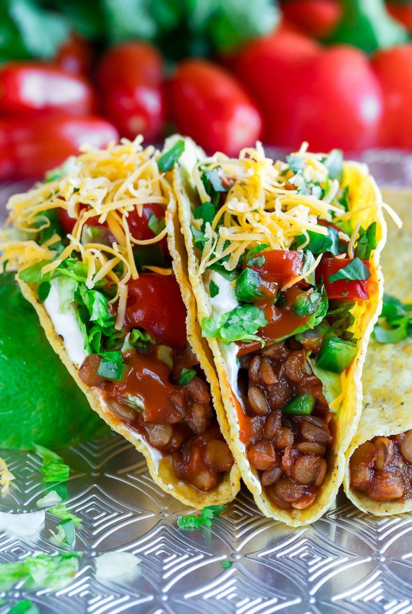 15 Recipes for Leftover Chipotle Peppers - Chipotle Lentil Tacos