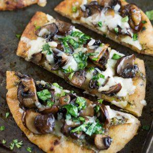 Caramelized Mushroom Flatbread Pizzas
