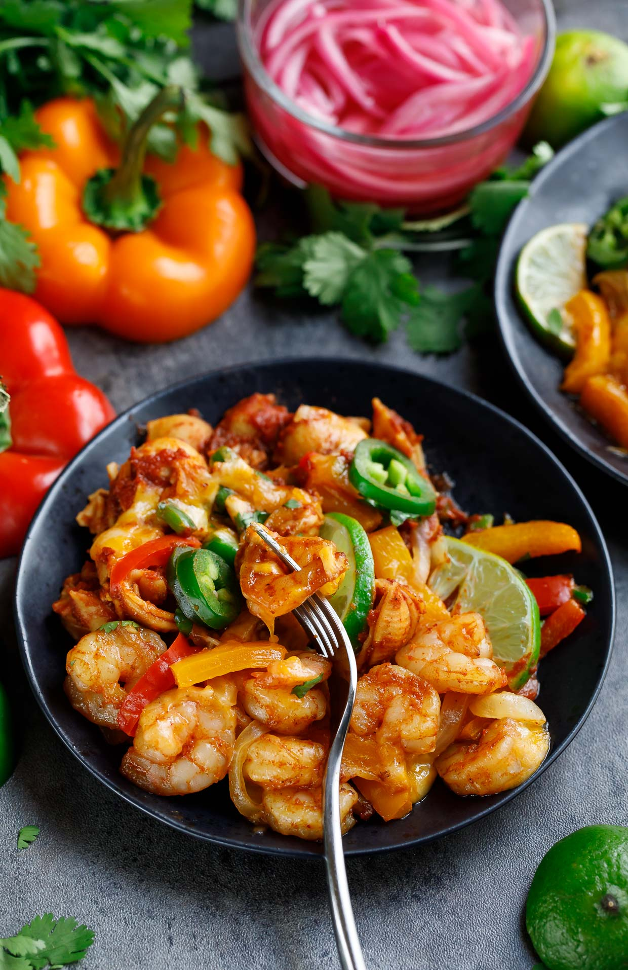 Tasty One-Pot Shrimp Fajita Pasta