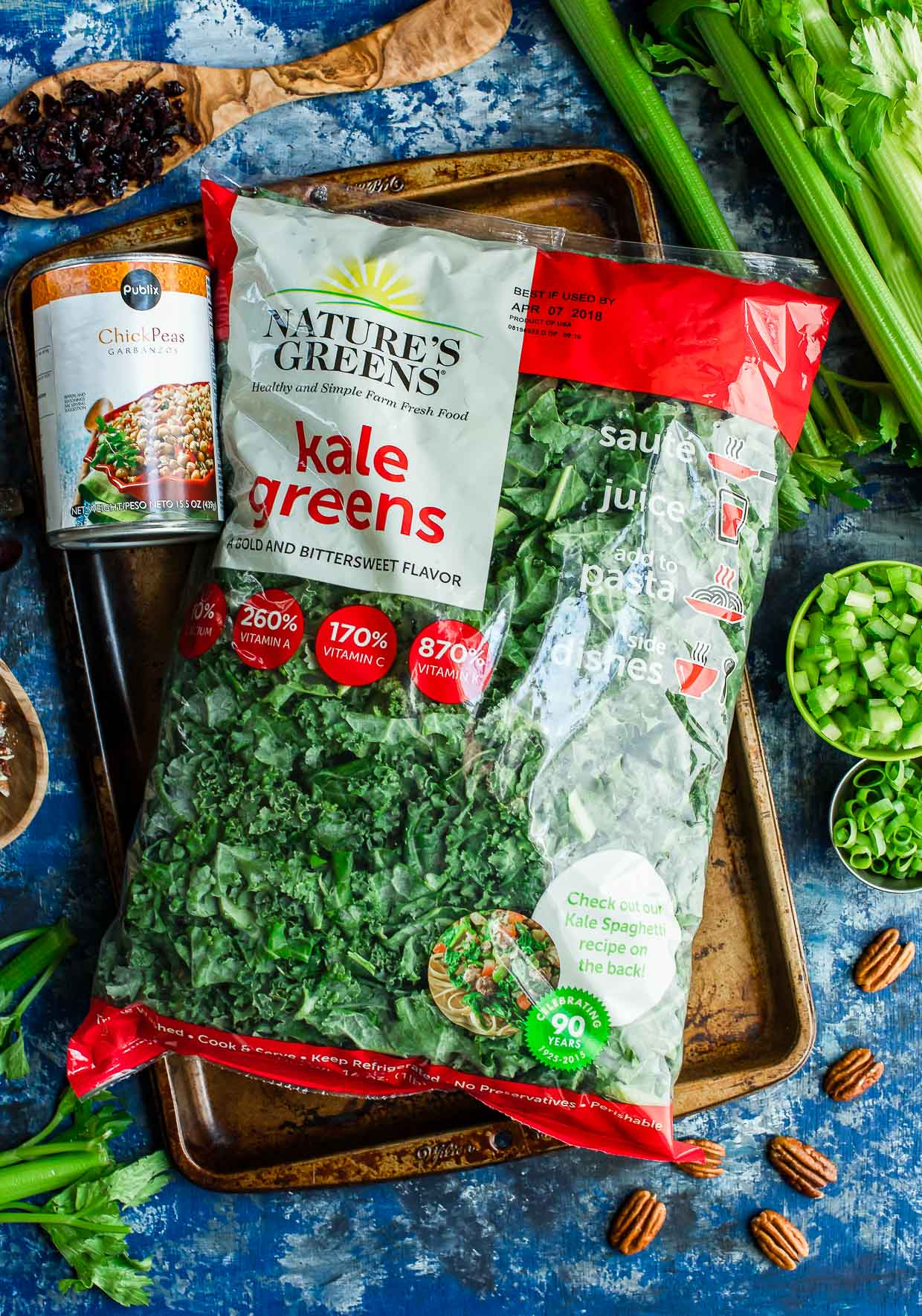 WP Rawl Nature's Greens Kale Greens chopped in bag