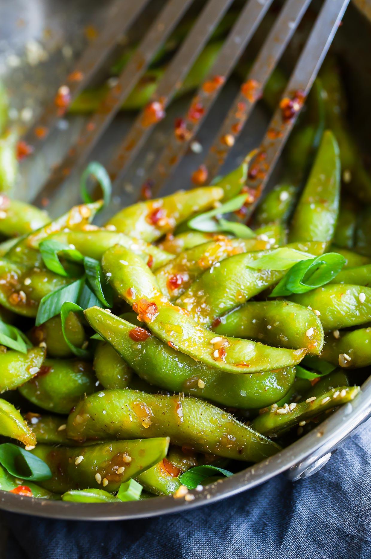 Vegan Sweet Chili Edamame