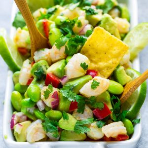 Cilantro Lime Avocado Shrimp Salad