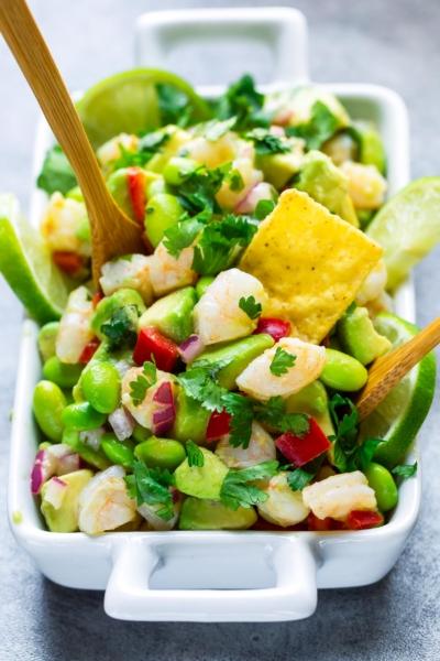 Cilantro Lime Avocado Shrimp Salad