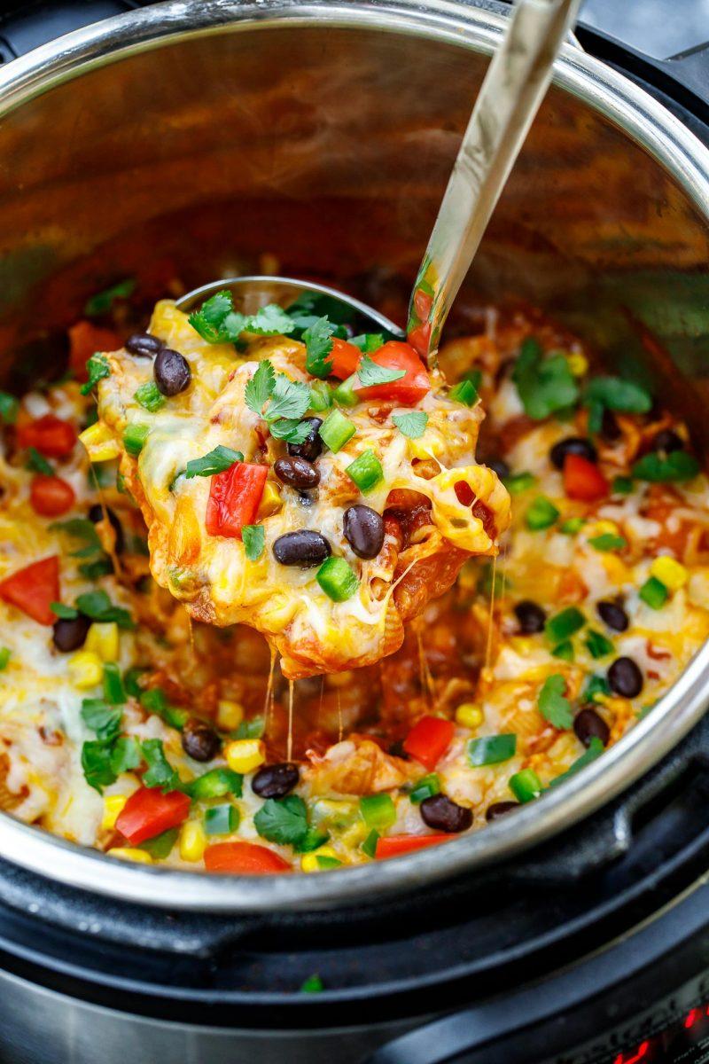 Vegetarian Instant Pot Taco Pasta Recipe Peas And Crayons