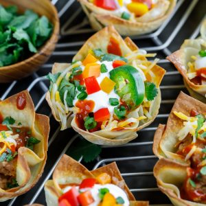 Vegetarian Wonton Taco Cups