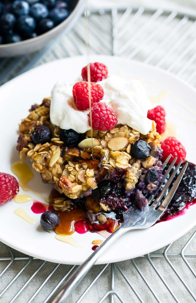 Sweet and Savory Blueberry Recipes - Blueberry Baked Oatmeal