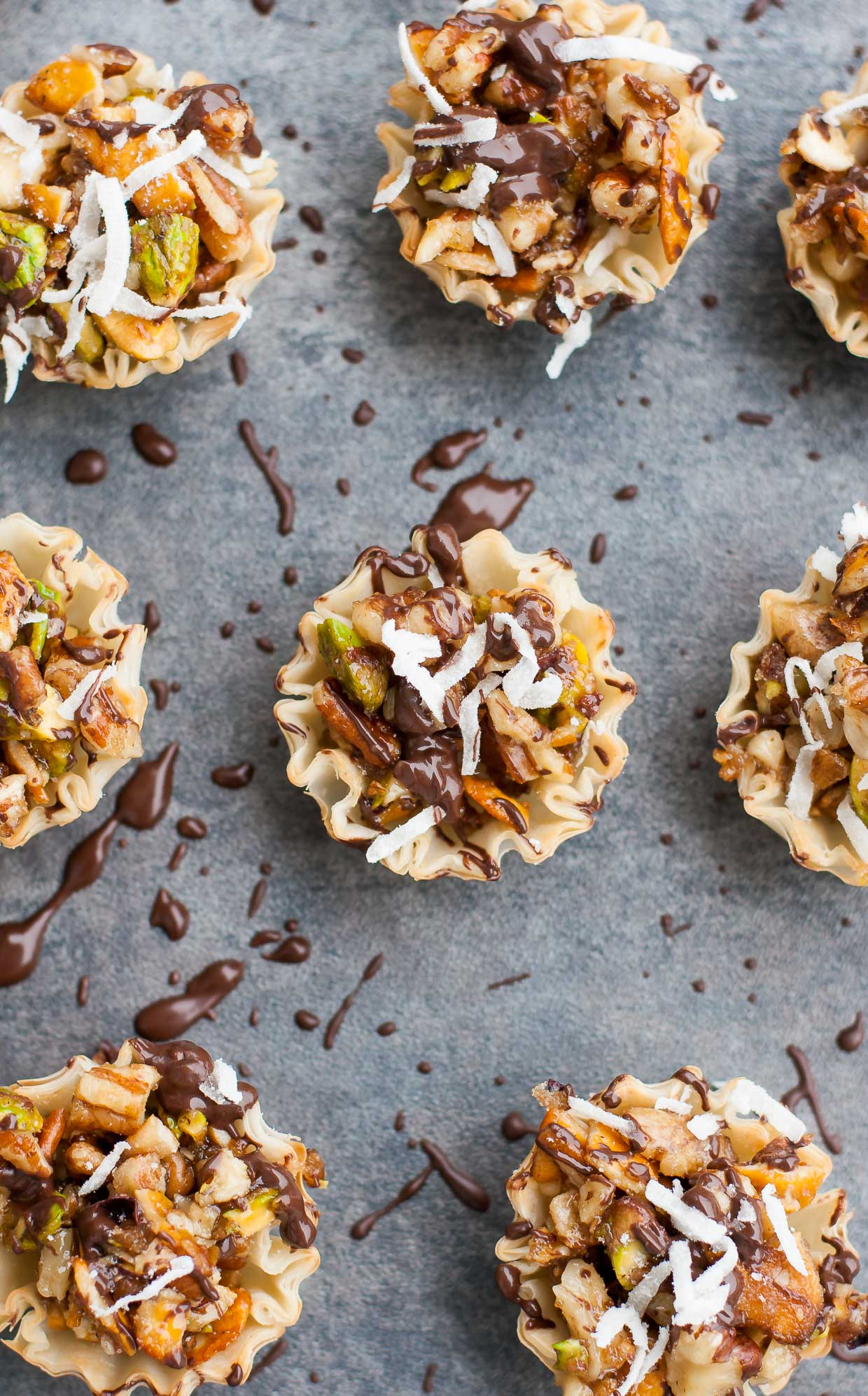 Chocolate Coconut Baklava Bites Recipe