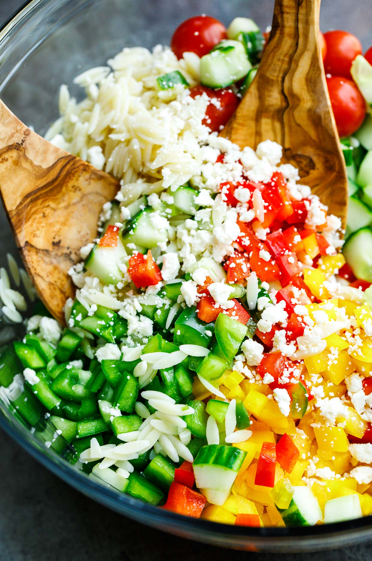Greek Orzo Salad Ingredients