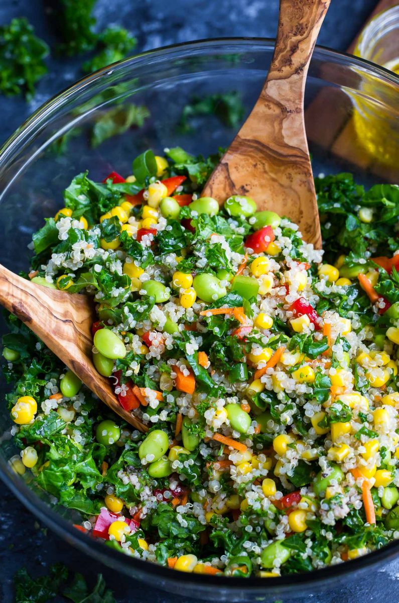 Healthy Quinoa Salad in Bowl