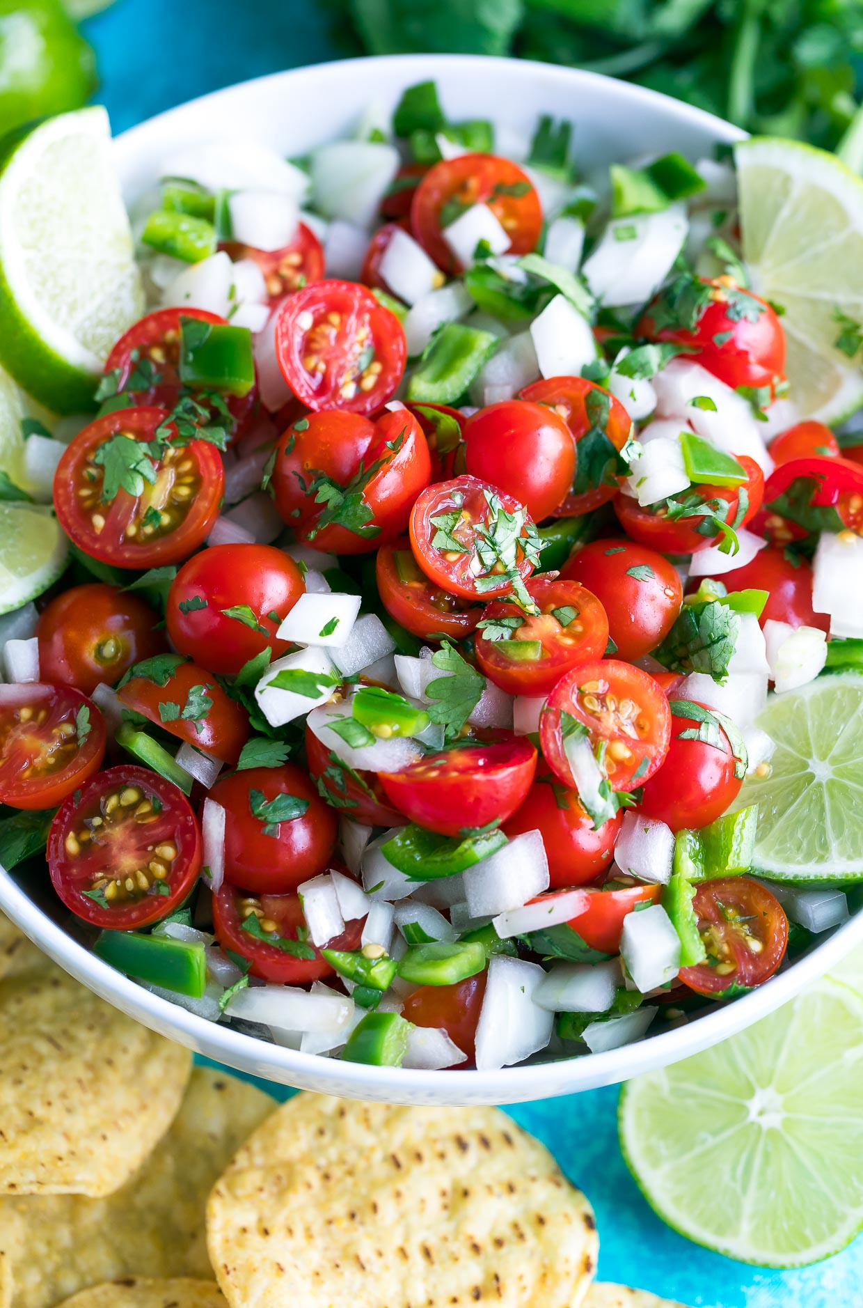 Healthy Cherry Tomato Pico de Gallo