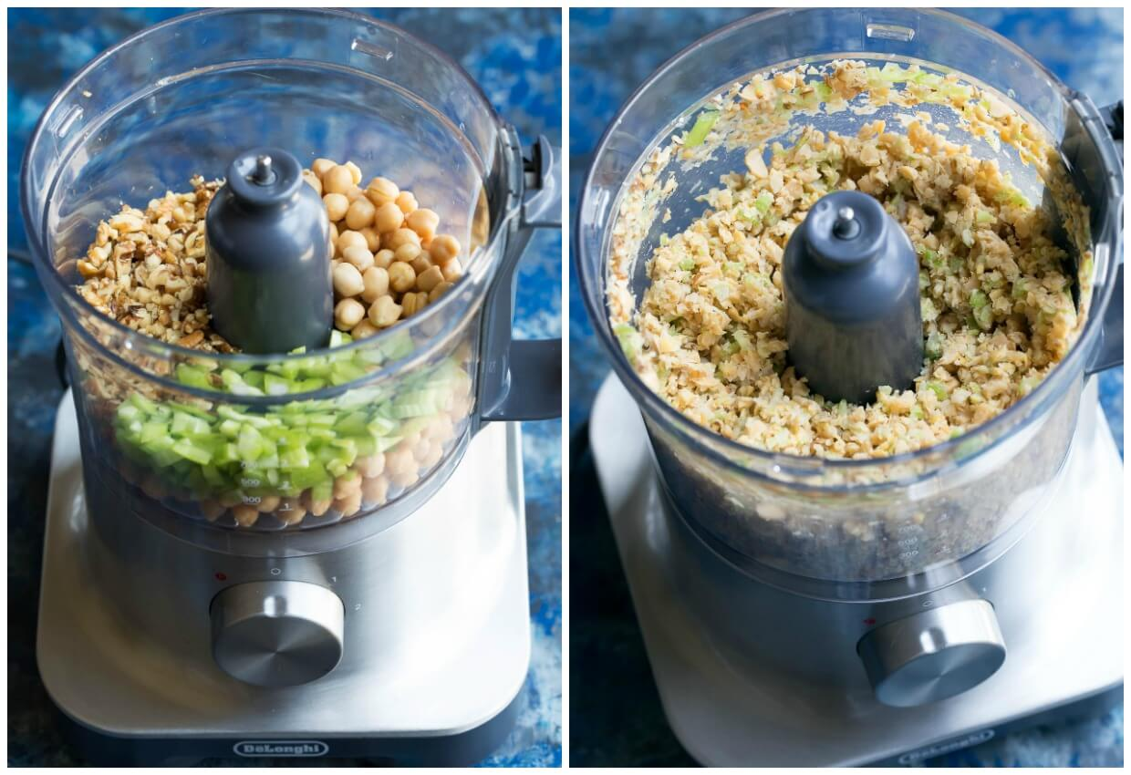 Cranberry Walnut Chickpea Salad Process Shots