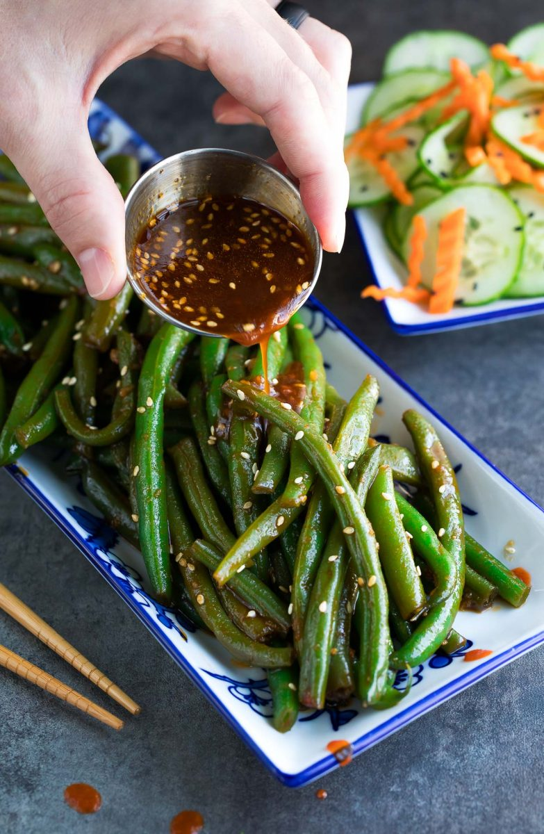 Spicy Sriracha Green Beans