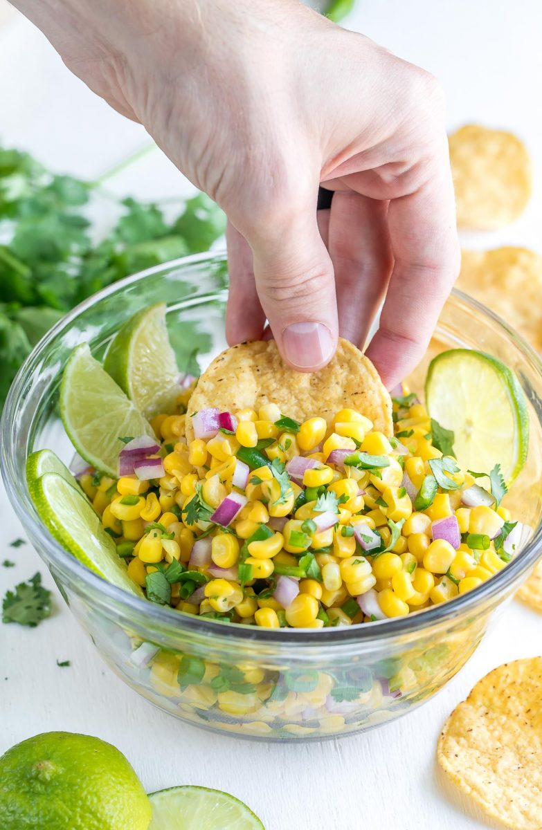 Chipotle Corn Salsa Dip