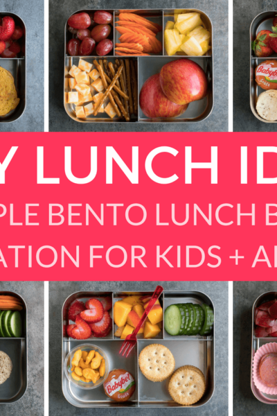 Easy Lunch Ideas for Kindergarten - Kids Simple Bento Lunch Box Collage