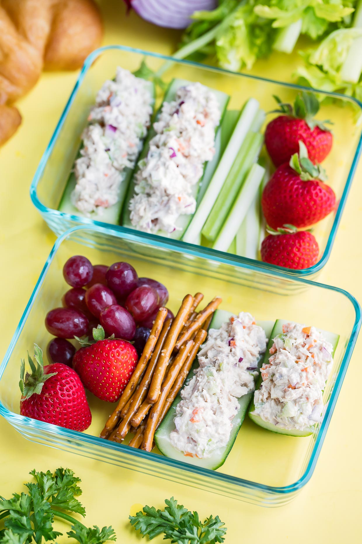 Tuna Salad Cucumber Boats Lunch Box Recipe