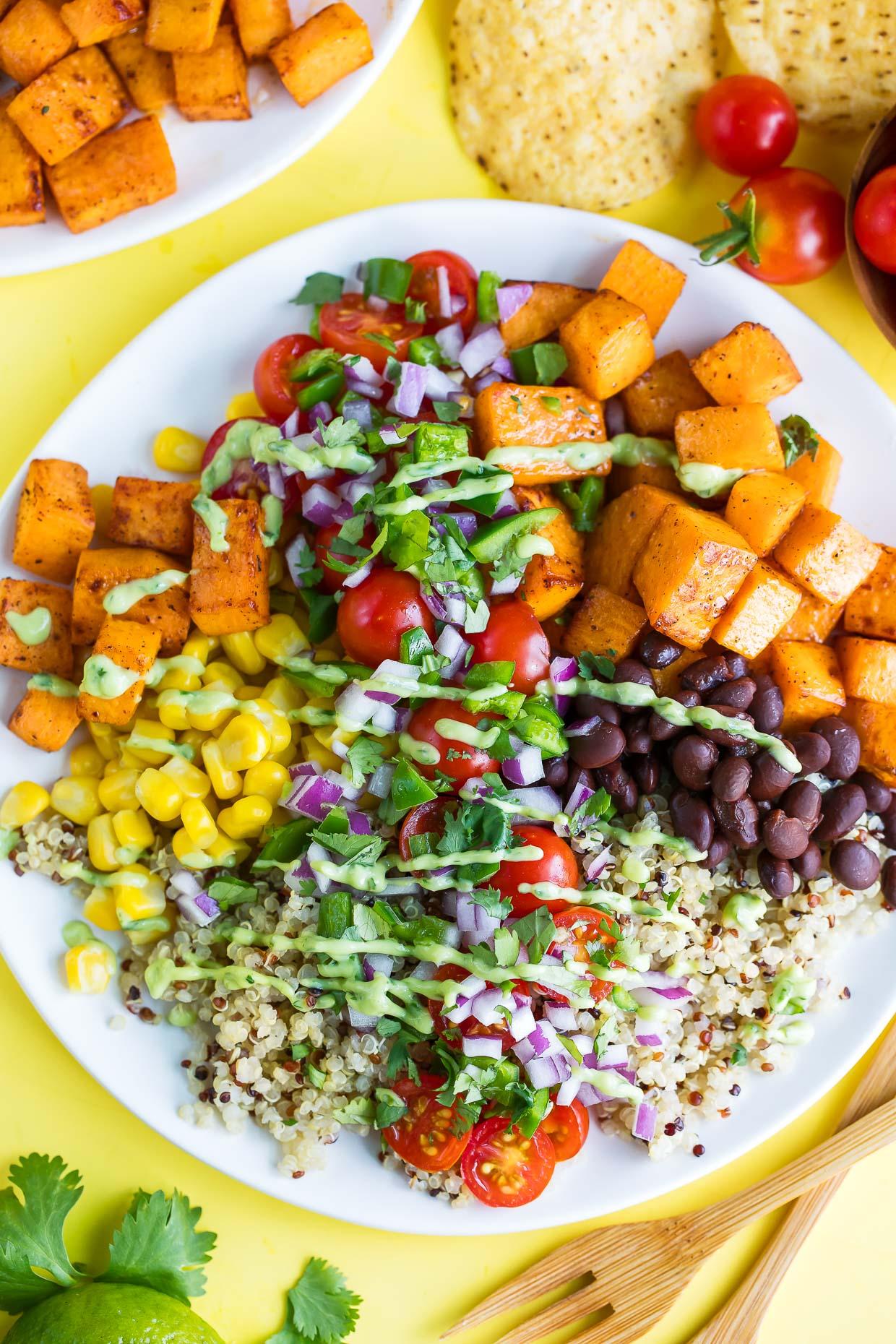 Black Bean Quinoa Salad Bowl