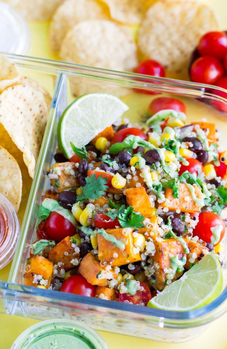 Black Bean Quinoa Salad Lunch Box
