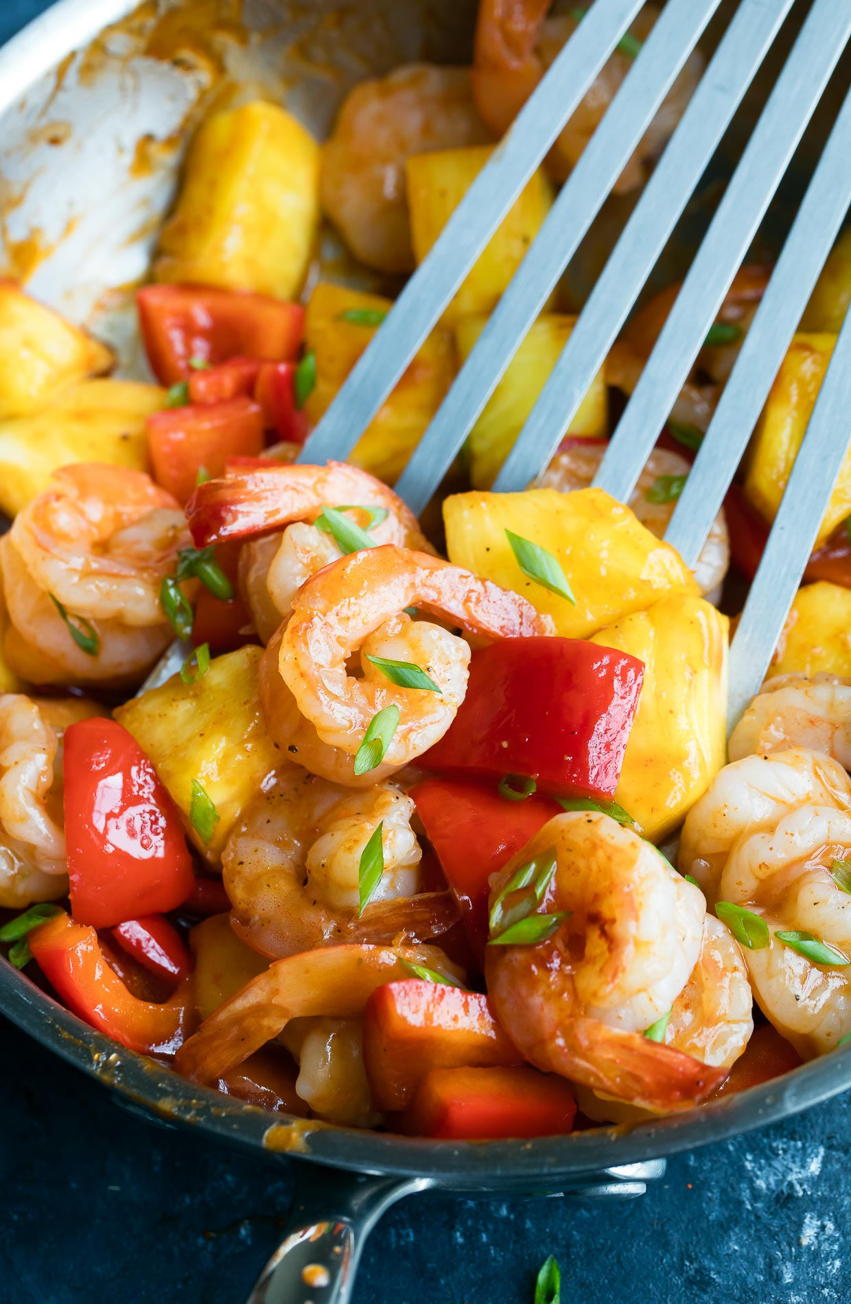 BBQ Pineapple Shrimp One Pan