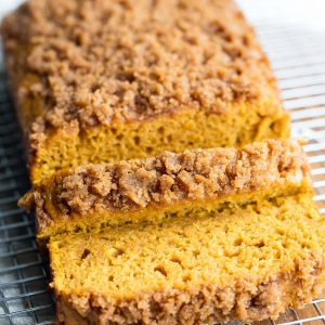 Pumpkin Bread with Cinnamon Sugar Streusel