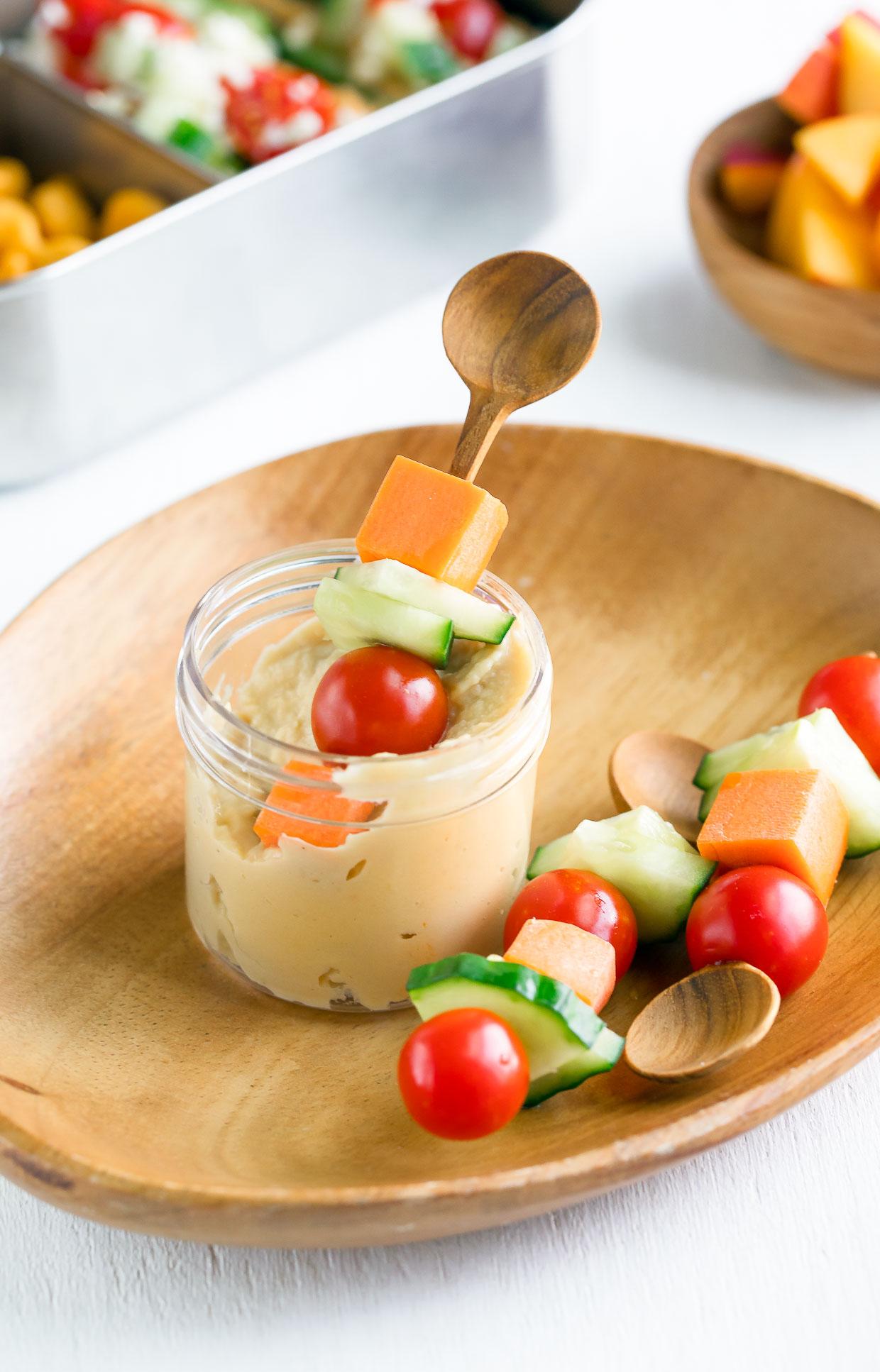 Veggie Kabobs with Hummus