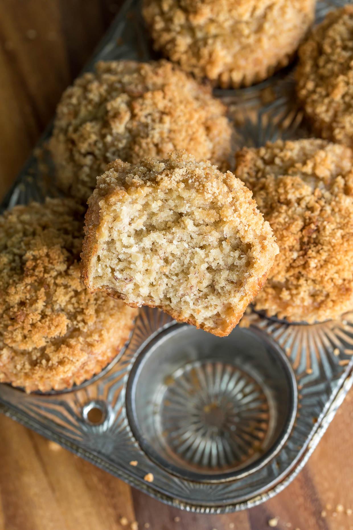 Easy Banana Streusel Muffins