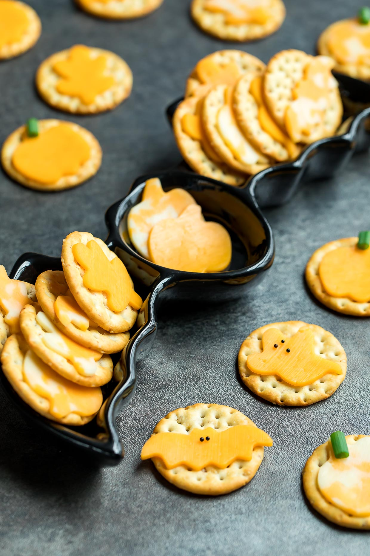 Halloween Cheese and Crackers Party Snack