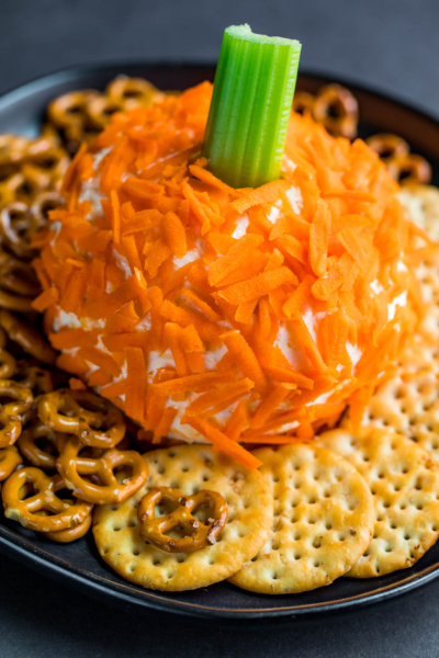 Halloween Healthy Pumpkin Cheese Ball