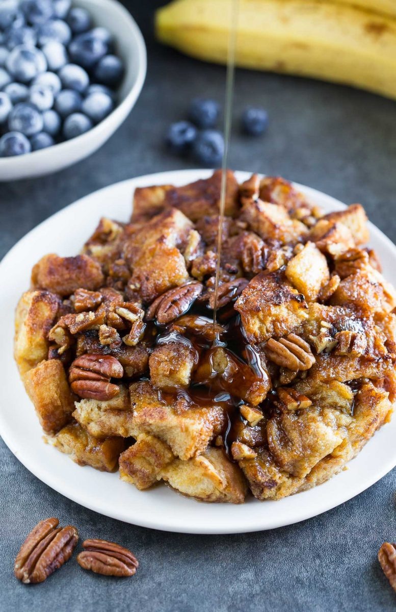 Instant Pot French Toast Casserole with Maple Syrup