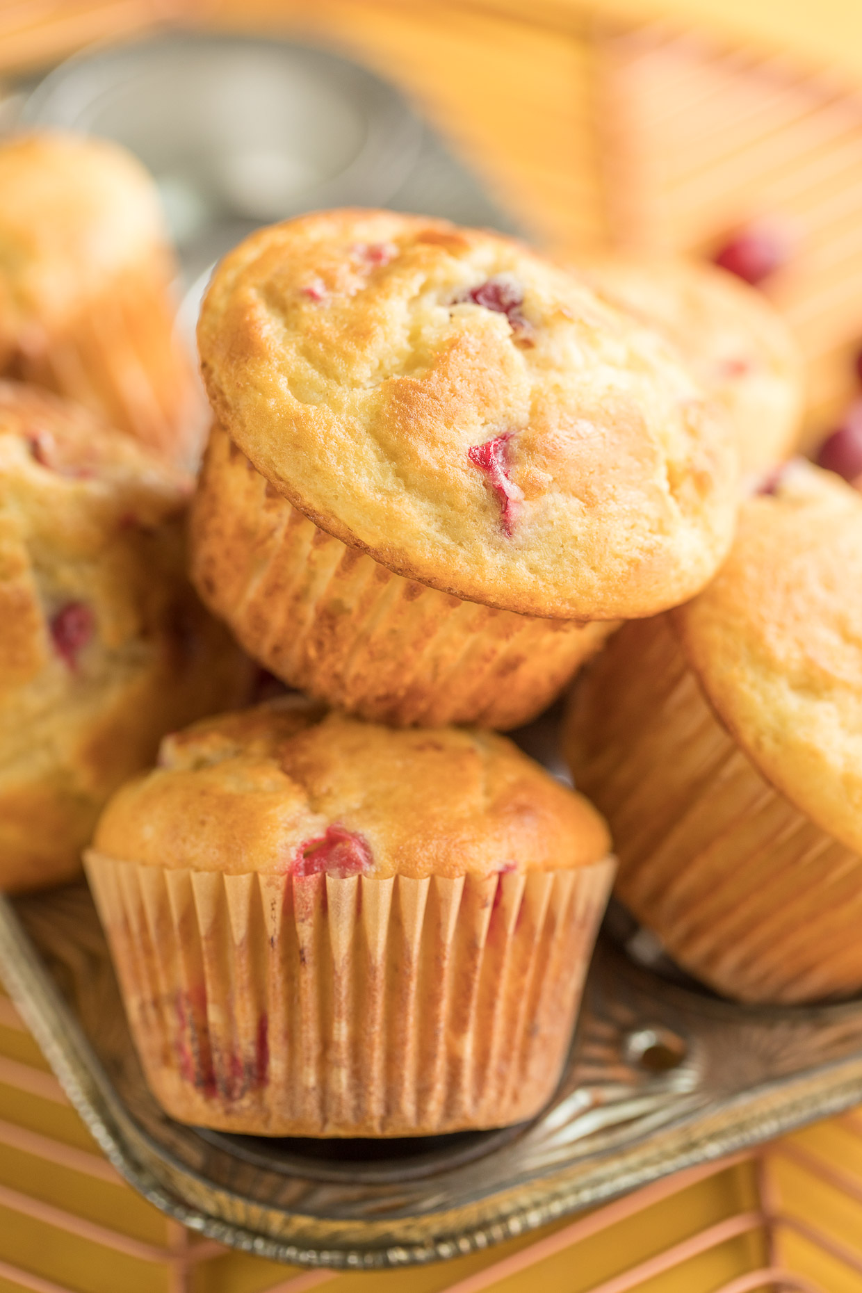 Bakery-Style Banana Cranberry Muffins Recipe