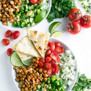 Chickpea Shawarma Bowls with Tahini Sauce