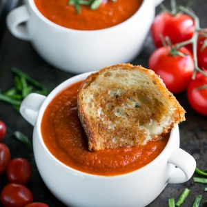 Instant Pot Tomato Soup with Grilled Cheese