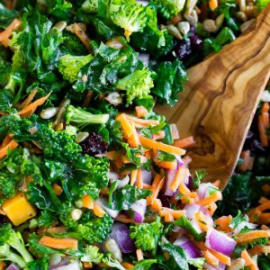 Massaged Kale Salad with Lemon Dressing