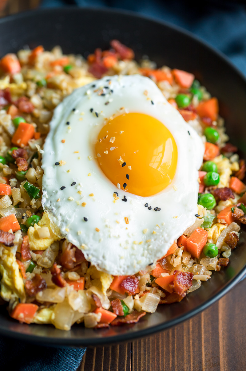 Cauliflower Fried Rice with Fried Egg