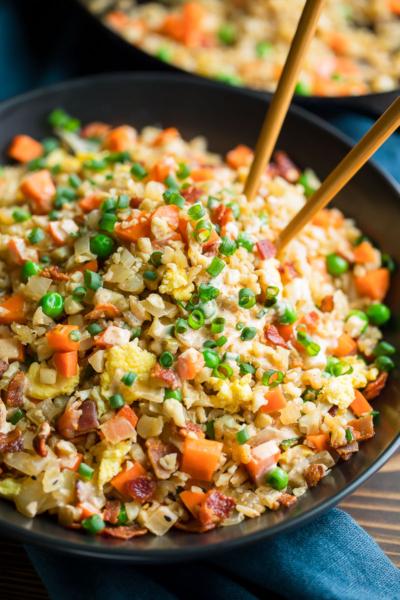 Breakfast Cauliflower Fried Rice Bowls