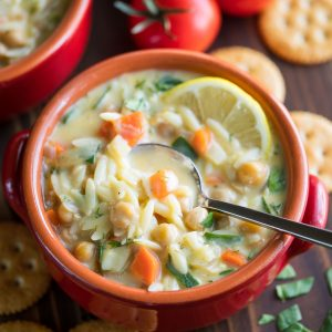 Chickpea Lemon Orzo Soup Recipe
