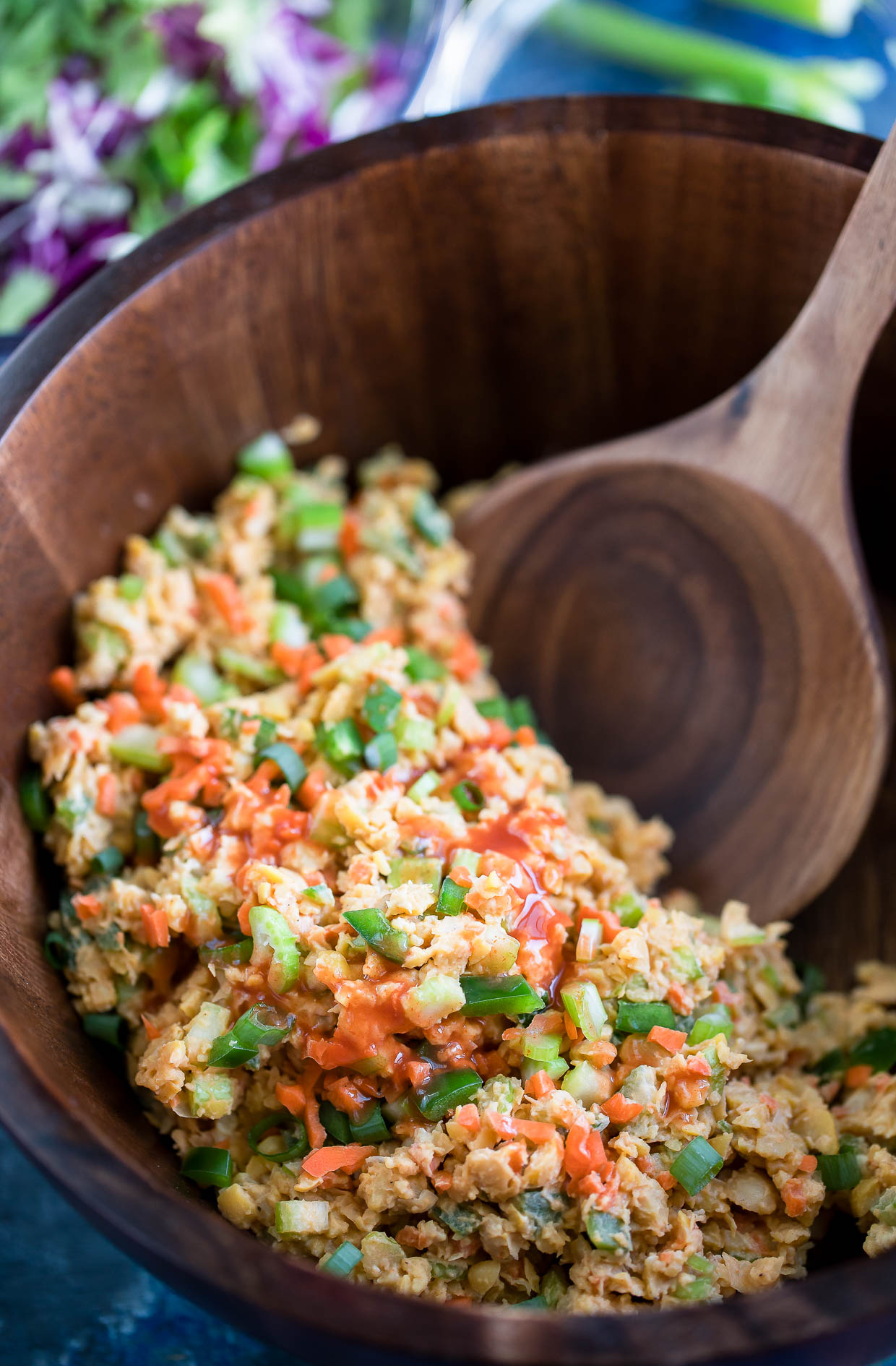 Vegan Buffalo Chickpea Salad