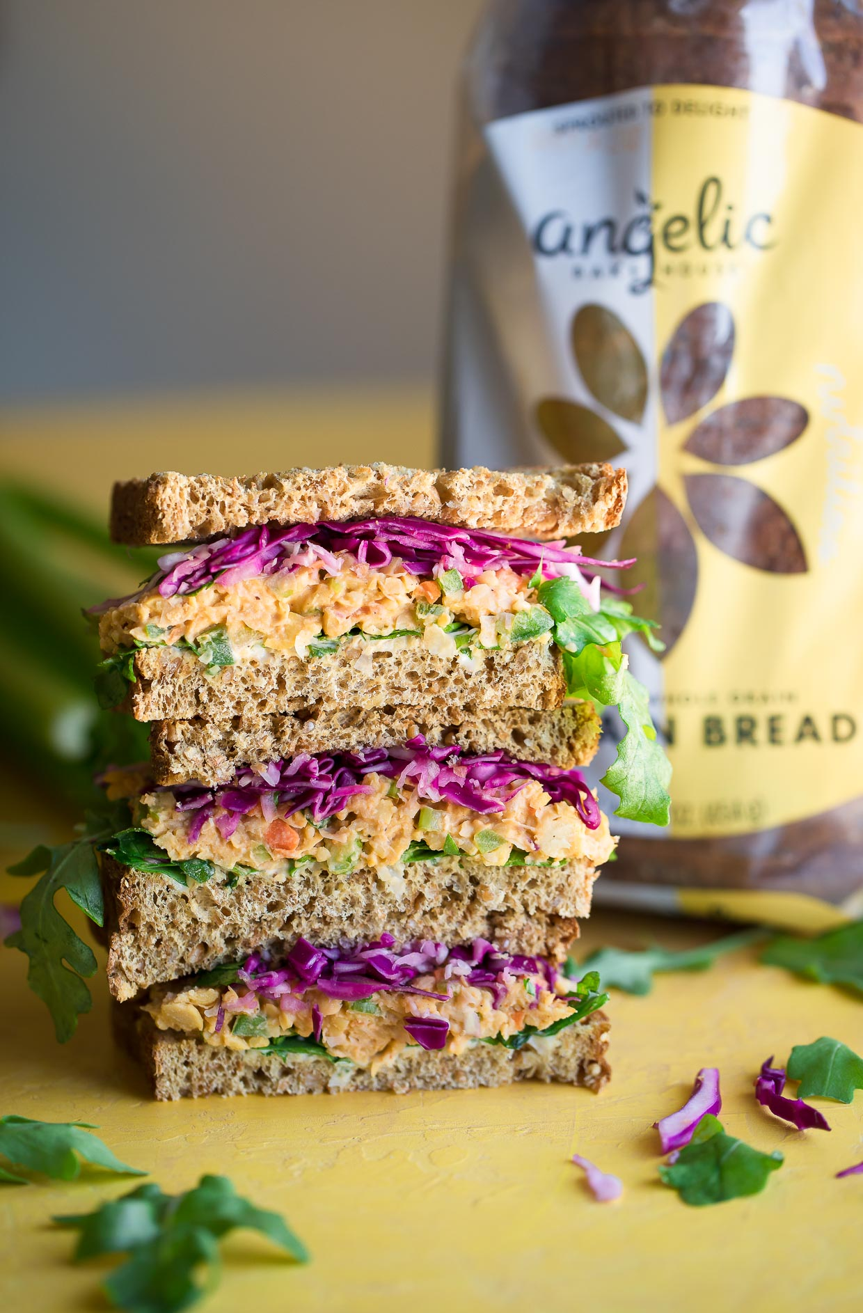 Vegan Buffalo Chickpea Sandwich