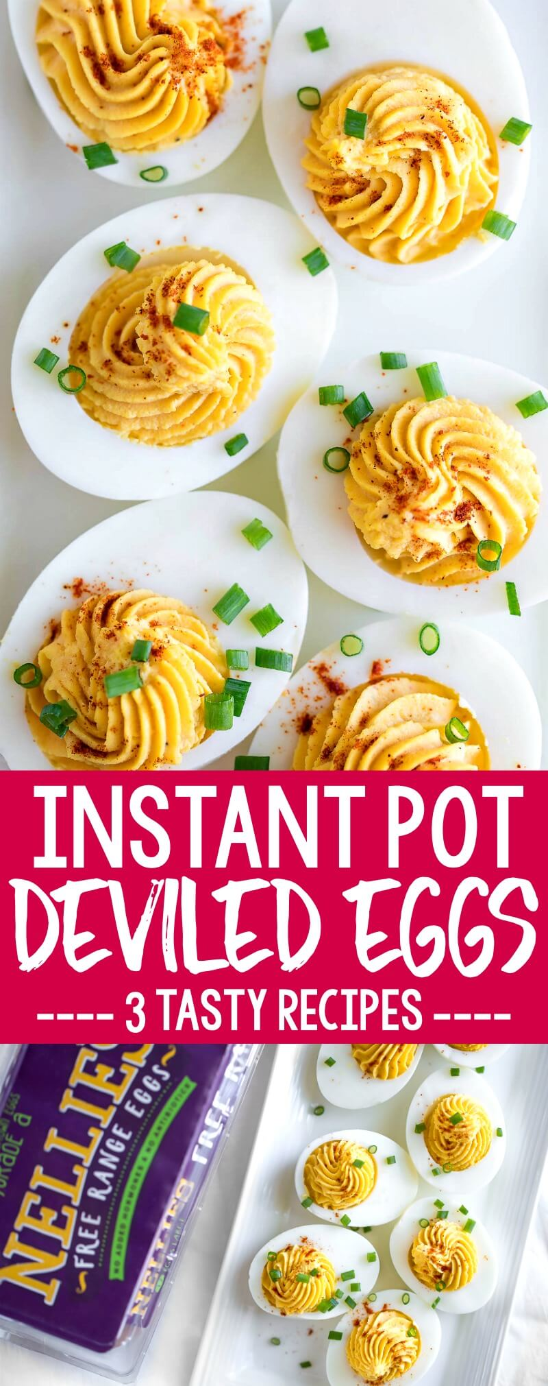 These Instant Pot Deviled eggs are so easy to make!